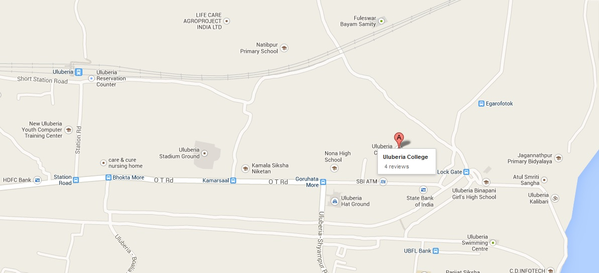 Uluberia College Location in Google Map